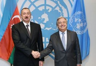 Azerbaijani president makes phone call to UN secretary-general