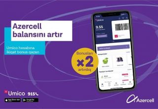 "Top up your balance and get double cashback to ""Umico"" from Azercell!"