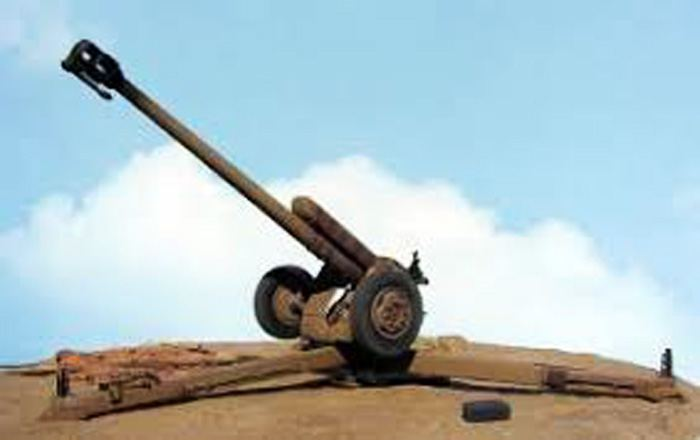 Armenian armed forces fire at Azerbaijani civilian village by using large-caliber howitzer