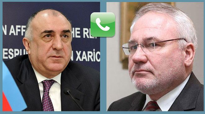 Azerbaijani FM holds telephone conversations with co-chair of OSCE MG and personal representative of OSCE Chairperson-in-office (PHOTO) - Gallery Image