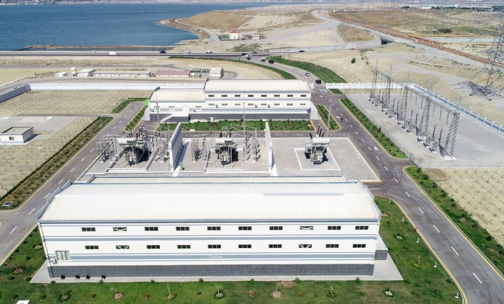Azerbaijani president, first lady inaugurate Boyukshor substation (PHOTO) - Gallery Image