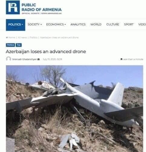 Armenian lies on shooting down Azerbaijan's UAV exposed (PHOTO) - Gallery Image