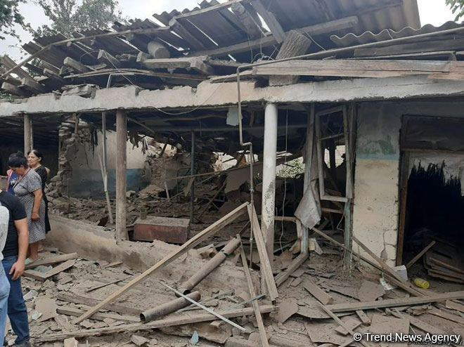 Armenian provocations result in damage of 35 houses in Azerbaijan's Tovuz