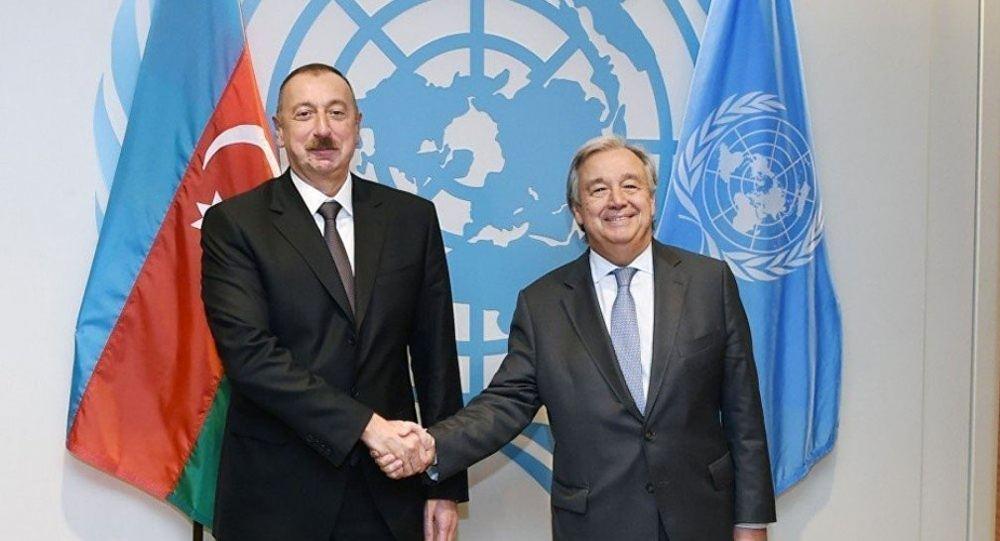 Генеральный секретарь ООН позвонил Президенту Ильхаму Алиеву