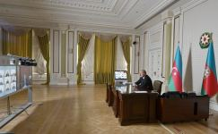 Azerbaijani president chairs video meeting on water management in country (PHOTO/VIDEO) - Gallery Thumbnail