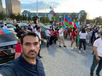 Azerbaijanis hold rally as sign of protest in Texas against Armenia's fascist actions (PHOTO) - Gallery Thumbnail