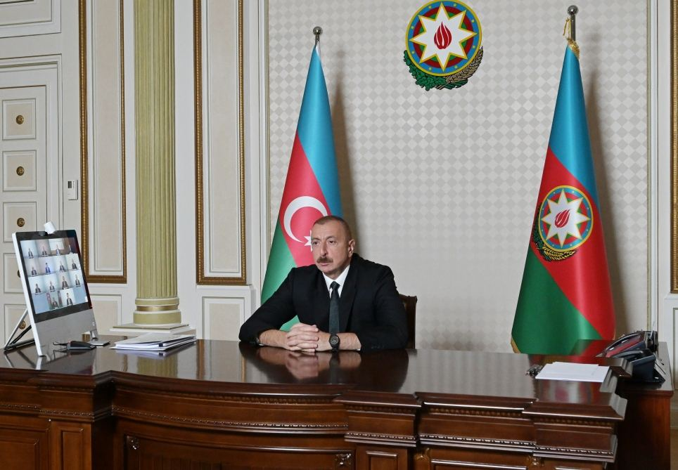 Azerbaijani president chairs video meeting on water management in country (PHOTO/VIDEO)