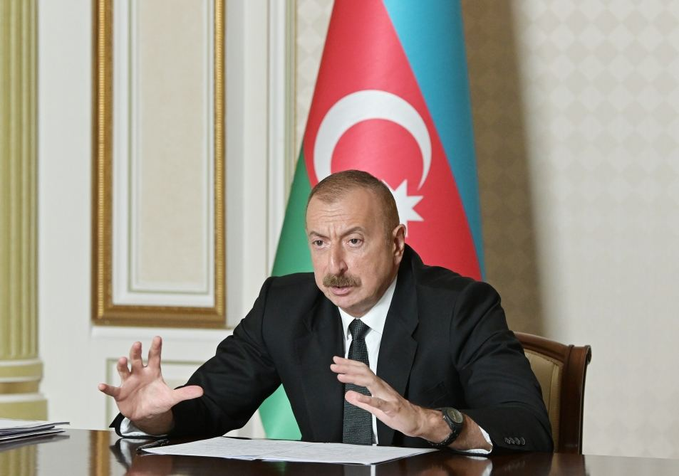 Azerbaijani president chairs video meeting on water management in country (PHOTO/VIDEO) - Gallery Image