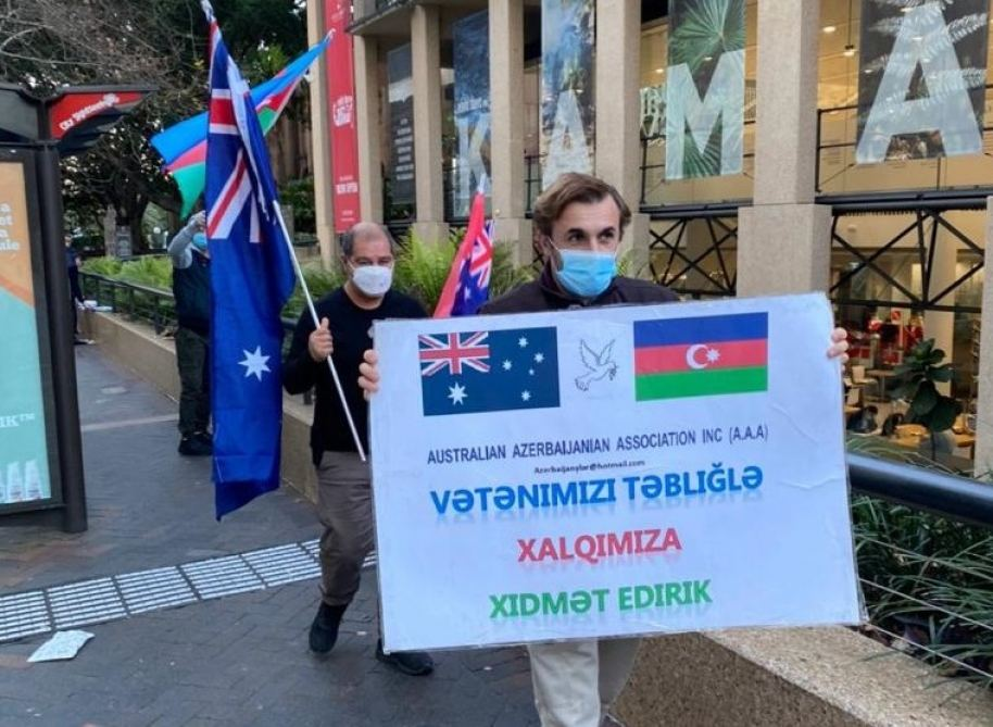 Azerbaijanis in Australia hold protest against Armenia's latest military provocations (PHOTO) - Gallery Image