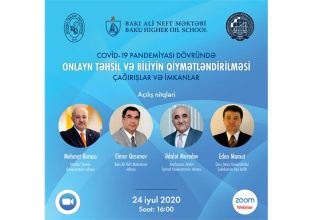 Baku Higher Oil School to host webinar on 'Online Education and Knowledge Assessment: Challenges and Opportunities'