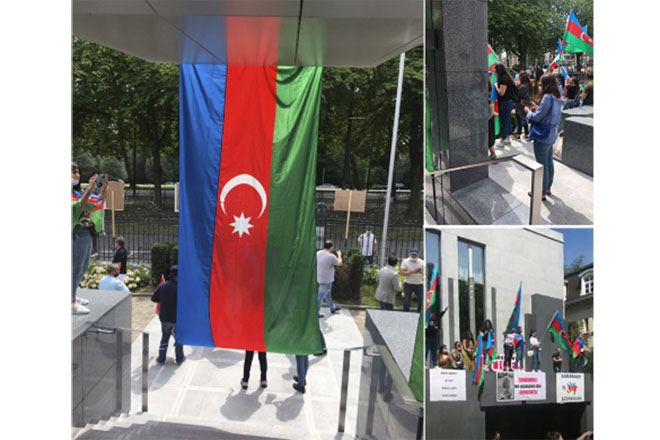 Unauthorized rally of Armenians in front of Azerbaijani embassy in Belgium fails (PHOTO)
