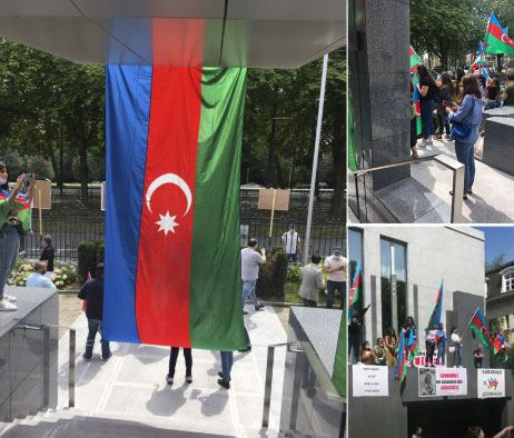 Unauthorized rally of Armenians in front of Azerbaijani embassy in Belgium fails (PHOTO) - Gallery Image