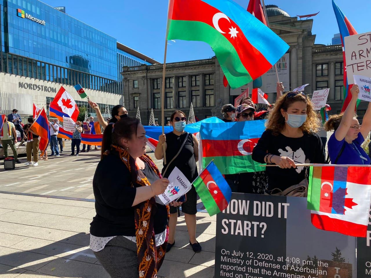Azerbaijanis in Canada's Vancouver hold rally against Armenian provocation (PHOTO) - Gallery Image