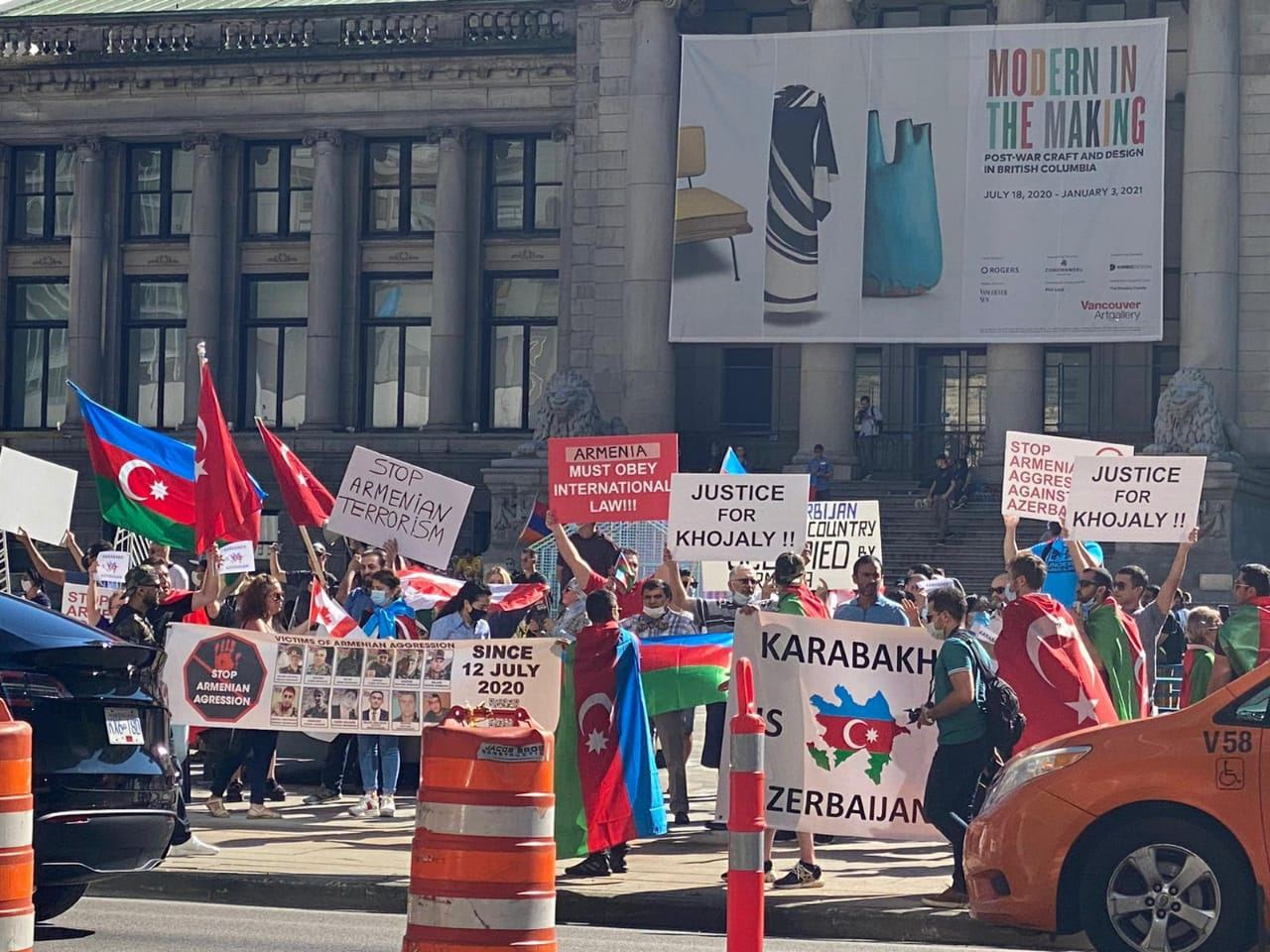 Azerbaijanis in Canada's Vancouver hold rally against Armenian provocation (PHOTO)