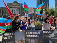 Azerbaijanis in Canada's Vancouver hold rally against Armenian provocation (PHOTO) - Gallery Thumbnail