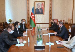 Министр Джейхун Байрамов принял посла Ирана в Азербайджане (ФОТО)