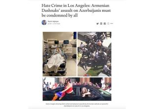 Medium publishes article on Armenian violence against Azerbaijani community in LA