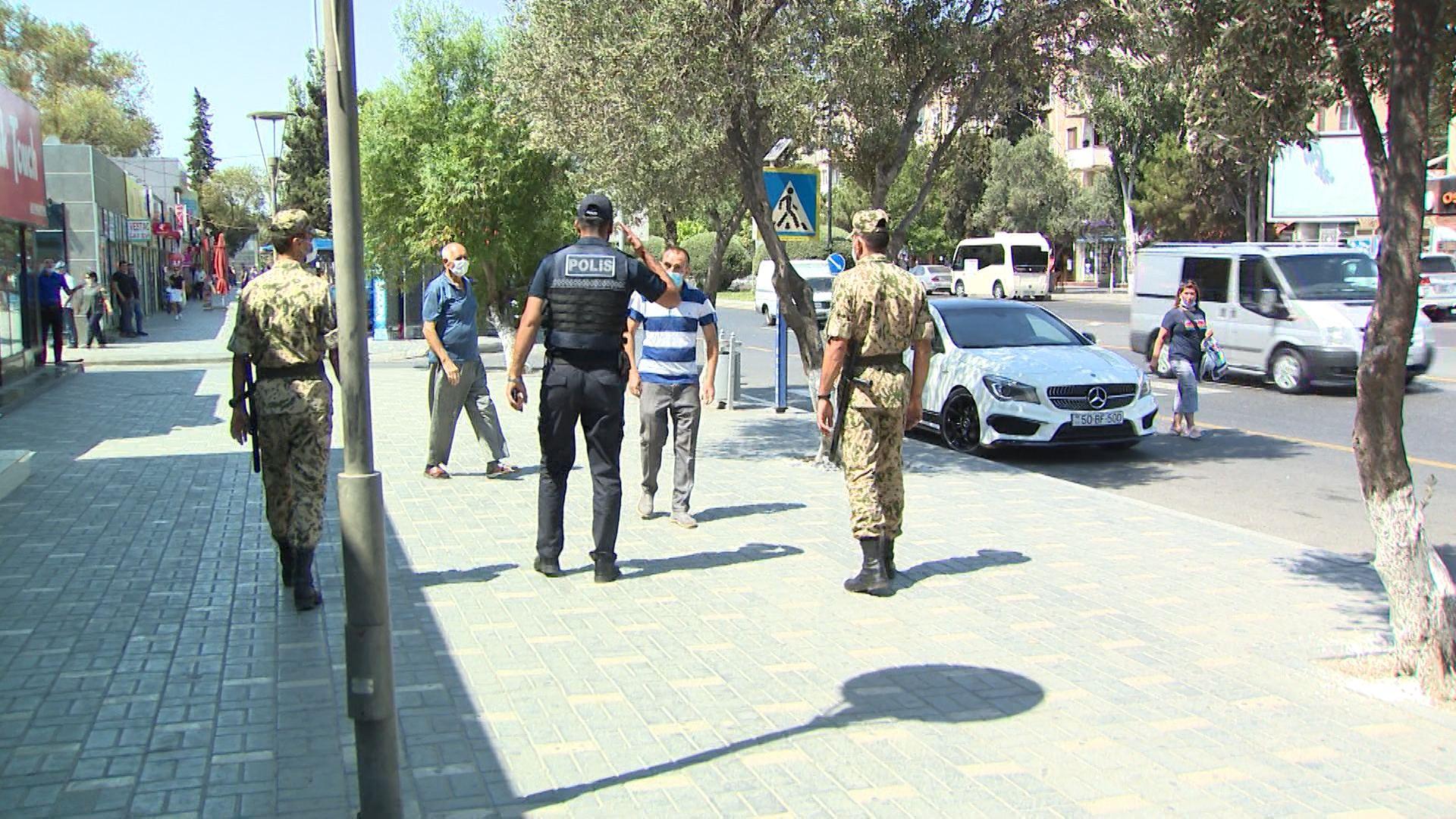 Sumqayıtda reyd: Karantin qaydalarını pozanlar cərimələndi (FOTO/VİDEO)