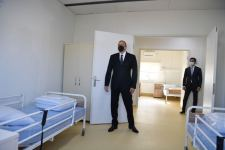 Azerbaijani president attends inauguration of modular hospital for treatment of coronavirus patients in Azerbaijan's Gobustan (PHOTO) - Gallery Thumbnail