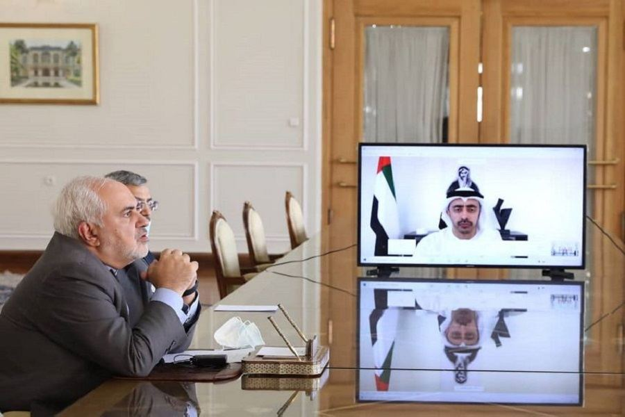 UAE, Iran foreign ministers discuss COVID challenge