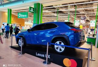 Pay with Mastercard in Bravo and drive out your new Lexus. (PHOTO)