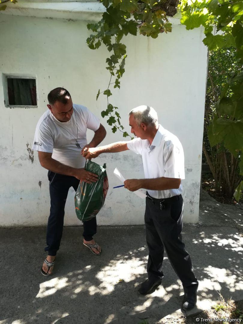 Deputat Sevil Mikayılovanın təşəbbüsü ilə Xudat sakinlərinə Qurban  sovqatları paylanılıb (FOTO) - Gallery Image
