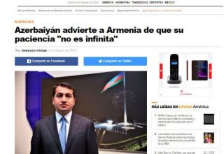 Spanish La Vanguardia: Armenia must realize that Azerbaijan's patience is not endless (PHOTO)