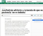 Spanish La Vanguardia: Armenia must realize that Azerbaijan's patience is not endless (PHOTO) - Gallery Thumbnail