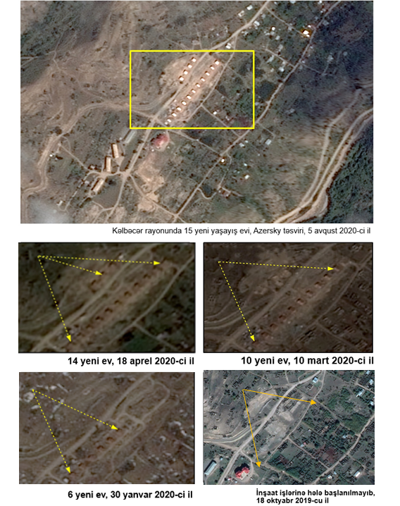 Azerbaijani Foreign Ministry shows satellite images of new illegal settlement in occupied Kalbajar (PHOTOS) - Gallery Image