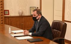 Azerbaijani FM meets with newly appointed ambassador of Greece (PHOTO) - Gallery Thumbnail