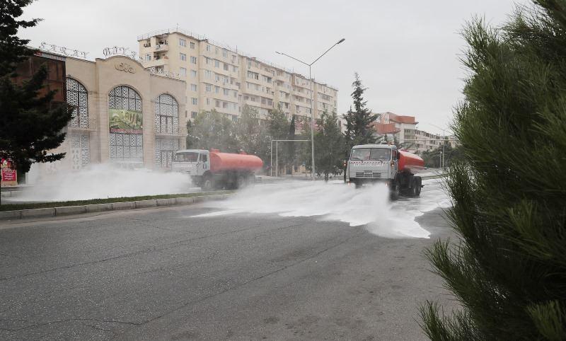 Bu gün Bakıda 551 küçə dezinfeksiya edilib (FOTO) - Gallery Image