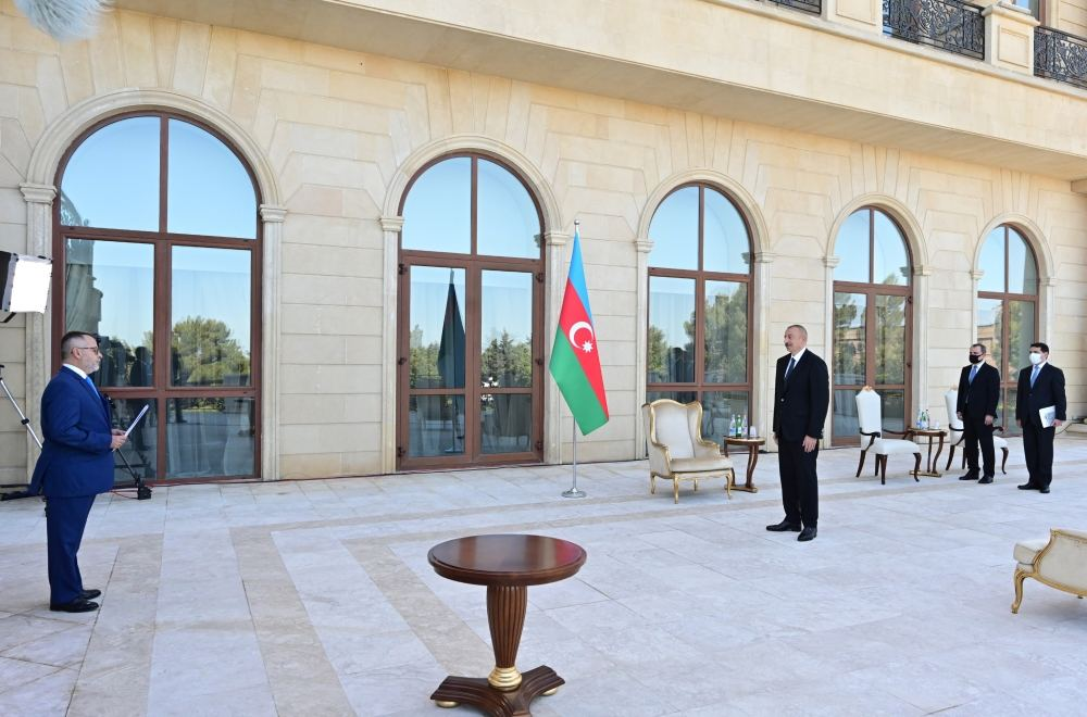 President Aliyev: We are concerned about format of trilateral military cooperation involving Armenia, Greece and Cyprus