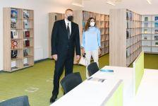 Президент Ильхам Алиев и Первая леди Мехрибан Алиева приняли участие в мероприятии по сдаче в эксплуатацию заново отстроенного учебного корпуса UNEC (ФОТО) (версия 3) - Gallery Thumbnail