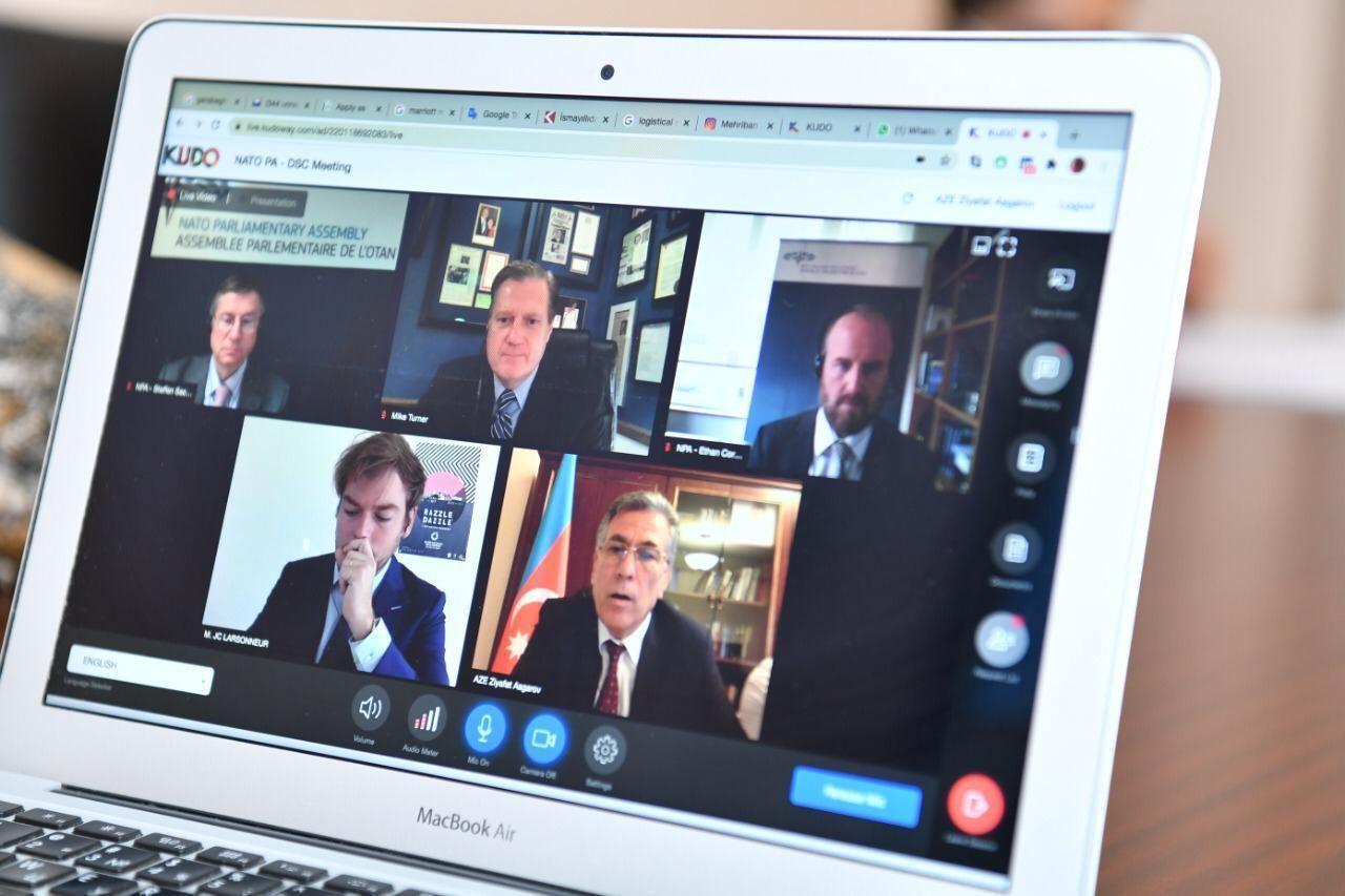 NATO Parlament Assambleyasının Müdafiə və Təhlükəsizlik Komitəsinin iclası keçirilib (FOTO) - Gallery Image