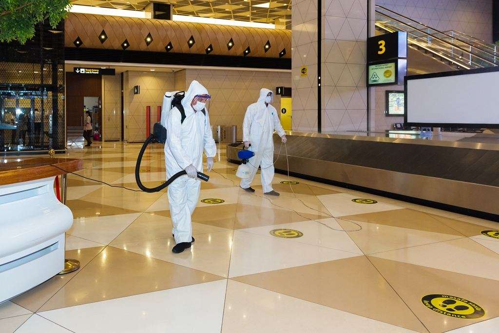 Large-scale disinfection carried out at the Heydar Aliyev International Airport (PHOTO)