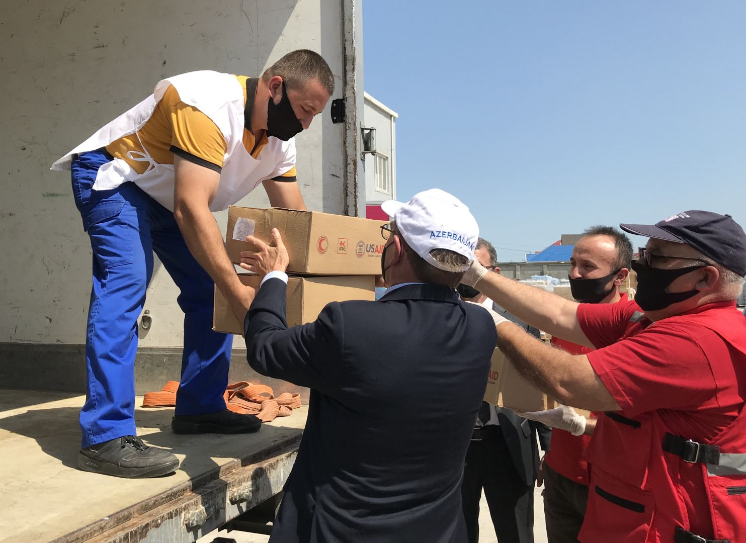 USAID Supports Delivery of Food and Hygiene Supplies for 3,500 Vulnerable Families by Azerbaijan Red Crescent Society (PHOTO)