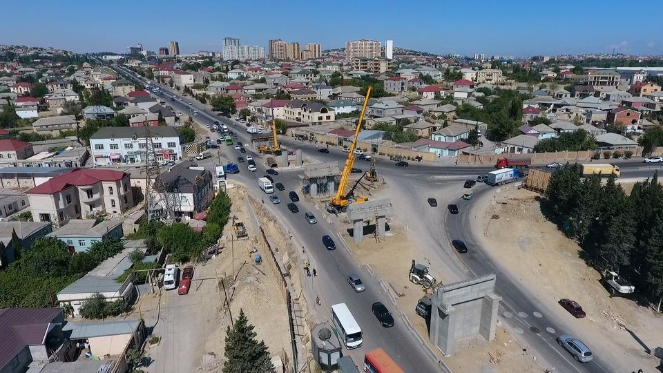 Multi-level road interchange being built in Azerbaijan to eliminate traffic jams (PHOTO) - Gallery Image