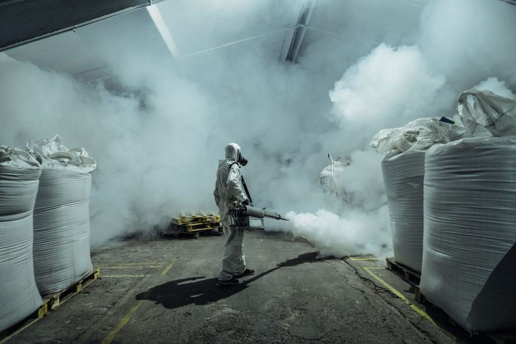 Fumigation work ongoing at production, storage facilities in Azerbaijan