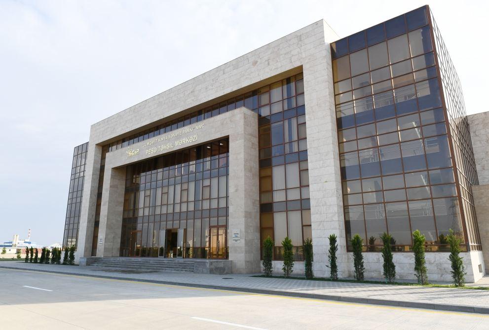 Президент Ильхам Алиев принял участие в открытии Центра профессионального образования в Сумгайыте (ФОТО) (версия 2) - Gallery Image