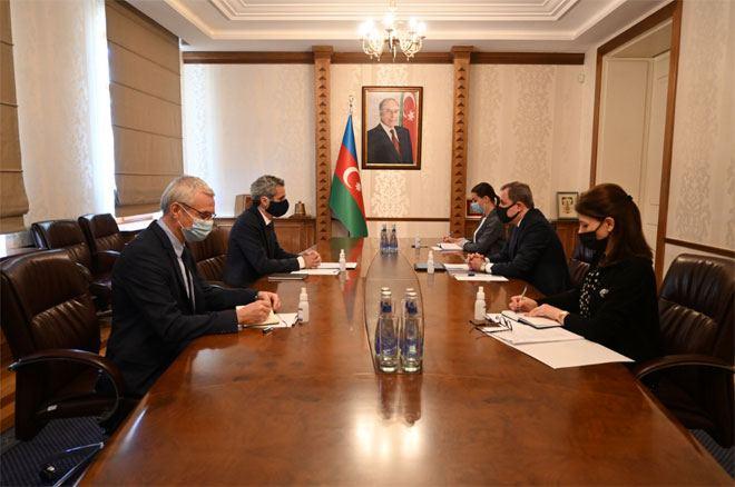 Глава МИД Азербайджана  встретился с послом Франции (ФОТО)