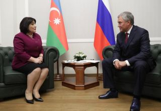 Chairman of State Duma of Federal Assembly of Russia talks Azerbaijan's territorial integrity (PHOTO)