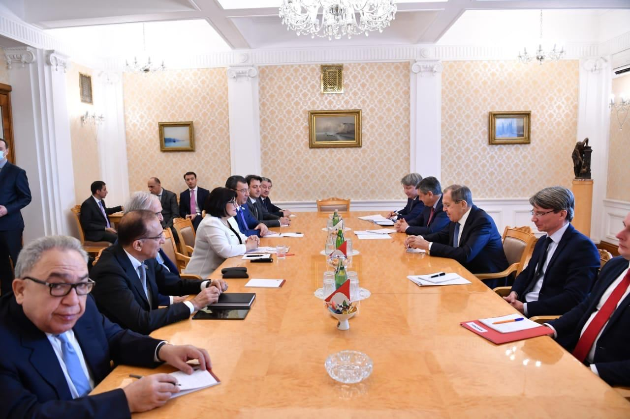 Speaker of Azerbaijan's Parliament meeting with Russian FM starts (PHOTO/VIDEO) - Gallery Image