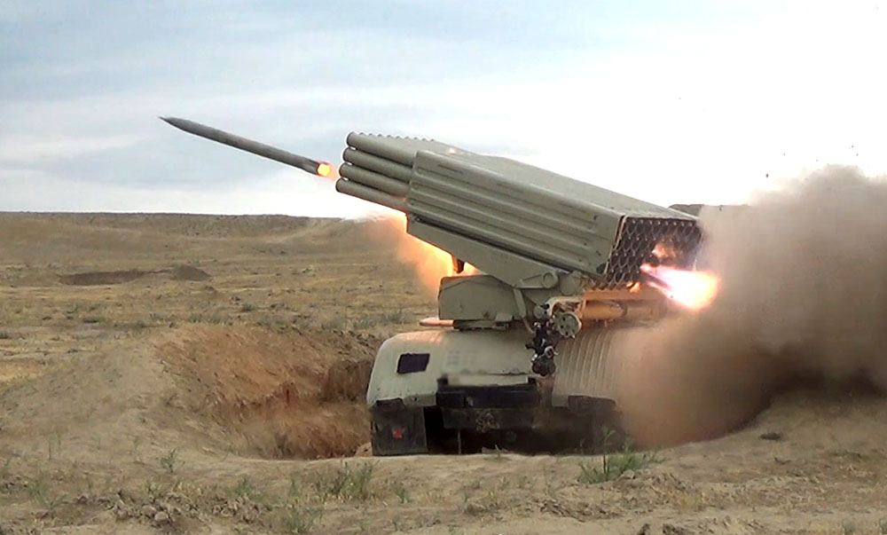 Azerbaijani defense ministry: another tank of Armenian armed forces destroyed