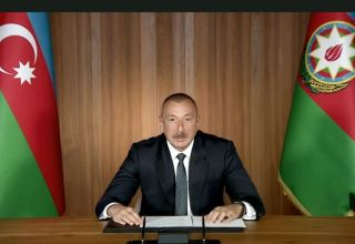 President Ilham Aliyev made a speech at general debates of 75th session of United Nations General Assembly in a video format (PHOTO)