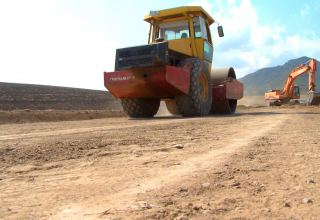 Road in border village of Azerbaijan's Gazakh district being overhauled (PHOTO)