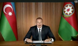 President Ilham Aliyev makes speech at general debates of 75th session of UNGA in video format (PHOTO) - Gallery Thumbnail