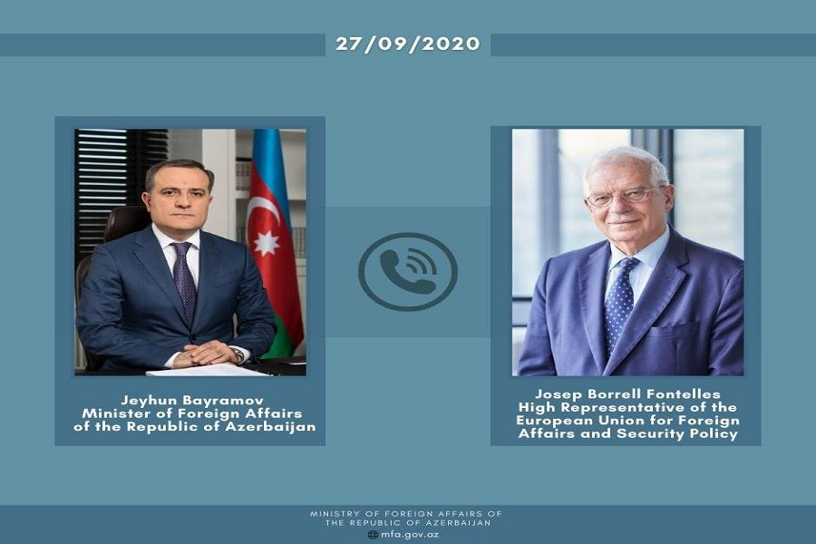 EU official Joseph Borel expresses serious concern over situation in region during phone call with Azerbaijani MFA