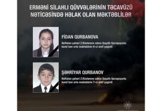 Azerbaijani schoolchildren killed as a result of Armenia's attack - ministry