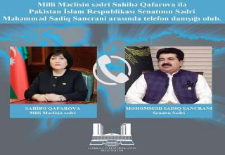 Speaker of Azerbaijani Parliament, Chairman of Pakistani Senate hold phone conversation