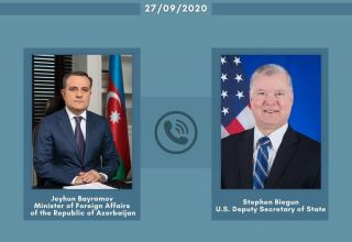 Azerbaijani Foreign Ministers holds phone talk with US Deputy Secretary of State